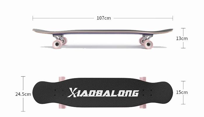 รีวิวสเก็ตบอร์ดรุ่น Longboard Xiaobalong SLX pro4