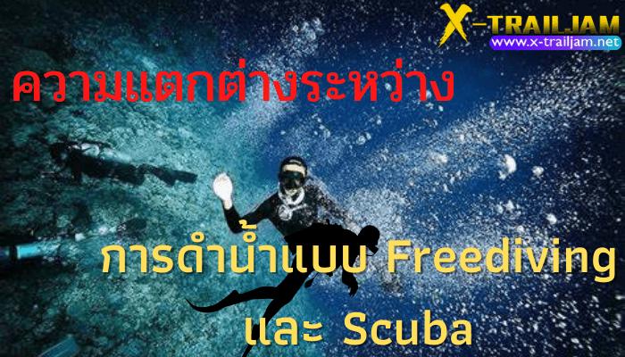 ความแตกต่างระหว่างการดำน้ำแบบ Freediving และ Scuba การดำน้ำถ้าหากจะแบ่งออกเป็นประเภทใหญ่ๆแล้วก็จะมีอยู่ด้วยกัน 3 รูปแบบ การดำน้ำ Remove term: การดำน้ำแบบ Freediving การดำน้ำแบบ FreedivingRemove term: ความแตกต่างระหว่างการดำ ความแตกต่างระหว่างการดำRemove term: การดำน้ำแบบ Scuba การดำน้ำแบบ Scuba